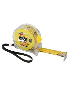25' Clear Double-Sided Tape Measure