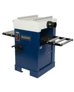 16'' Planer #23-400H is fitted with a helical, four row cutter head holding 72 carbide insert cutters.