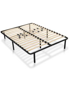 These platform bed frames feature sturdy steel construction with comfortably sprung wooden slats to support your mattress.