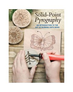 "Cover of the book ""Solid-Point Pyrography"" by Lisa Shackleton."