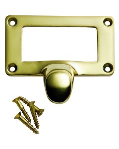 """Solid Cast Brass Card Holder (1-7/8"""" x 1"""" card size) Overall size is 2-7/16"""" x 2-5/32"""""""
