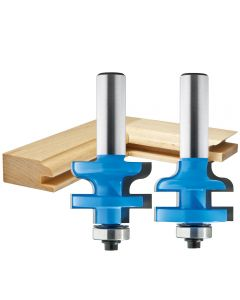"""Rockler Traditional Stile and Rail Router Bit - 1-3/8"""" Dia x 1"""" H x 1/2"""" Shank"""