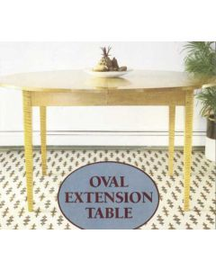 Oval Extension Table Downloadable Plan