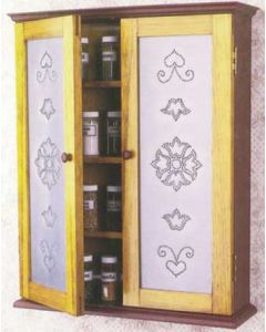 Pierced-Tin Spice Cabinet Downloadable Plan