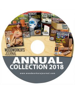 This CD includes every project, technique and tool review published in Woodworker's Journal throughout 2018, including a Modern Rocking Chair, a Tall Outdoor Chair, a classic Cherry Chest and suggestions for gifts from game boards to hand-made earings!