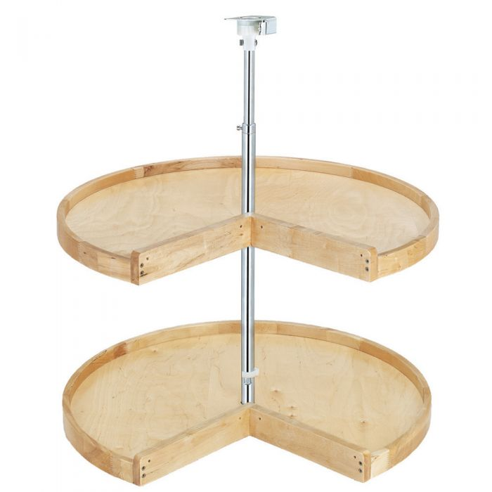 Pie Cut Wood Classic 2 Shelf Lazy Susan Rev A 4wls Series Rockler Woodworking And Hardware