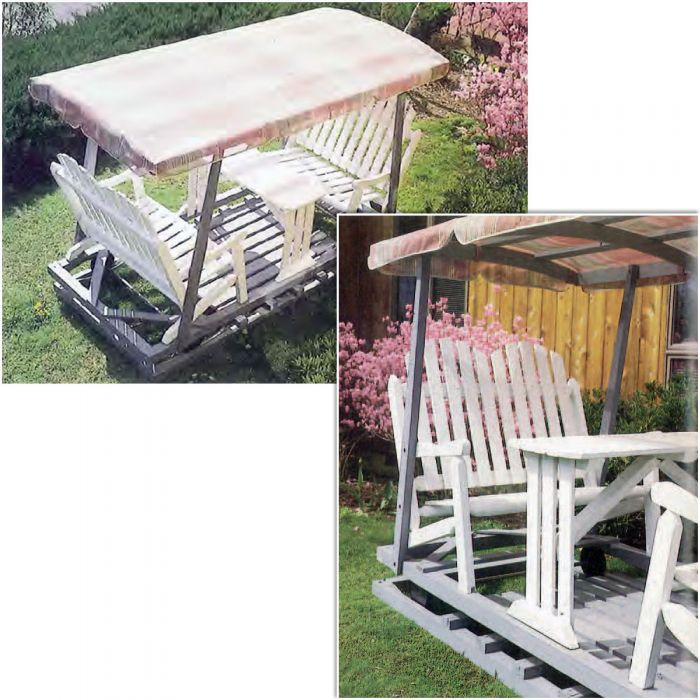 Lawn Glider with Canopy Downloadable Plan - Lawn Glider With Canopy Downloadable Plan Rocker Woodworking And
