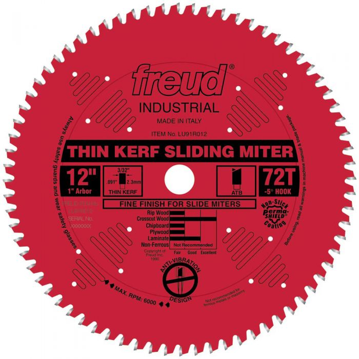 Freud lu91r thin kerf sliding compound miter saw blades rockler freud lu91r thin kerf sliding compound miter saw blades greentooth Images