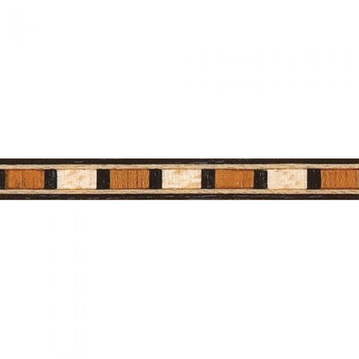 Black Maple Mahogany Block Inlay Banding, 3/16'' W