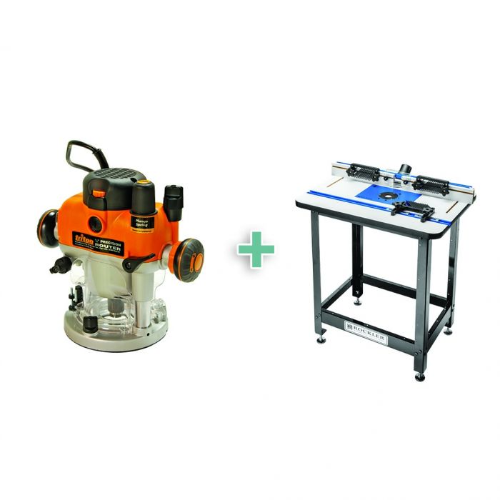Rockler high pressure laminate router table package with triton rockler high pressure laminate router table package with triton plunge router steel stand and 4 piece accessory kit greentooth Images