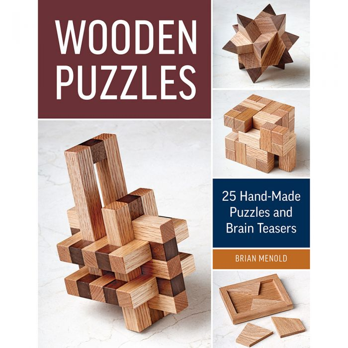 Wooden Puzzles Paperback Book Rockler Woodworking And Hardware