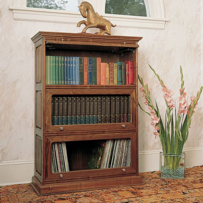 barristers bookcase plan - Barrister Bookshelves