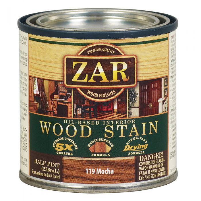 Zar Oil Based Wood Stain 119 Mocha Rockler Woodworking And Hardware