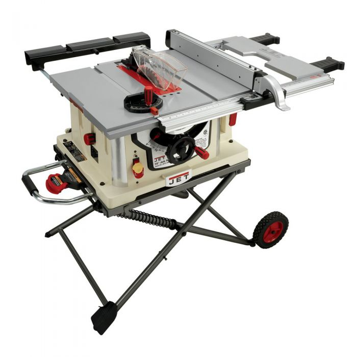 Jet 10 jobsite table saw wretractable stand jbts 10mjs707000 jet 10 jobsite table saw wretractable stand greentooth Image collections