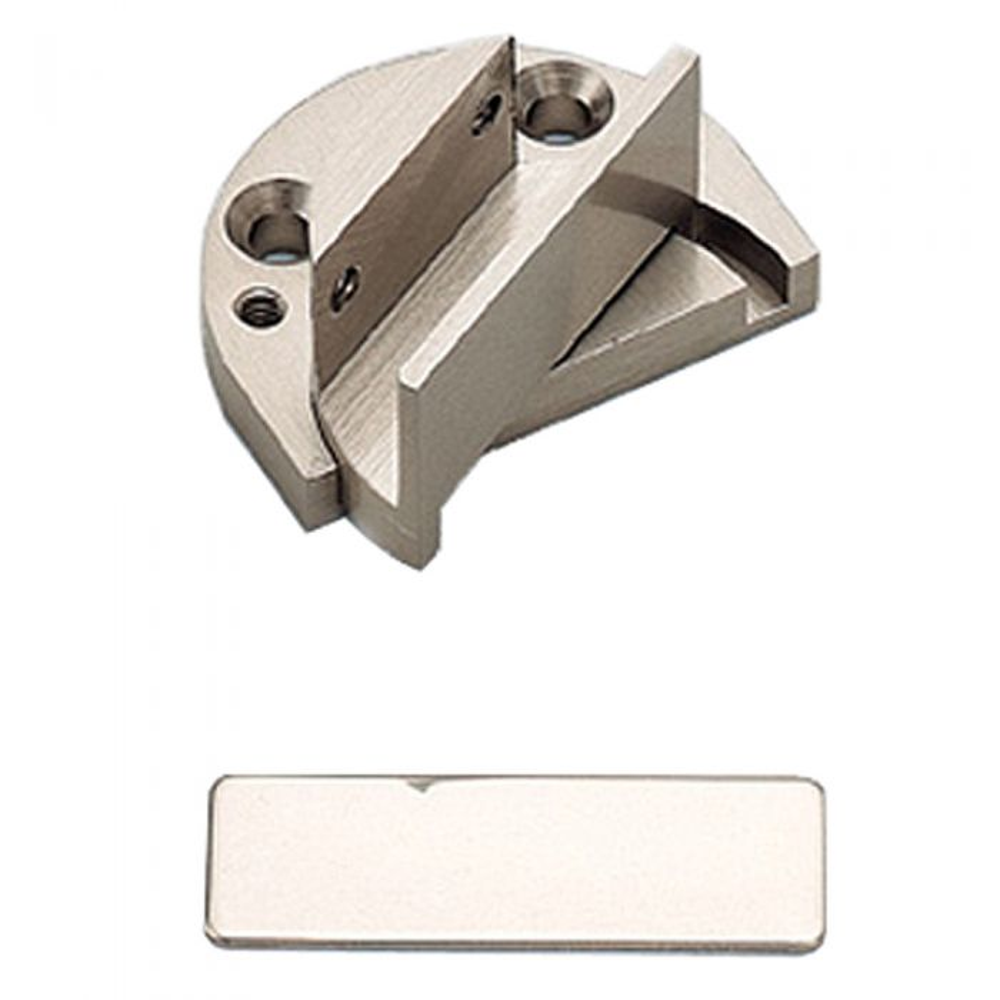 Pivot Type Inset Glass Door Hinge Gp 40 Satin Nickel