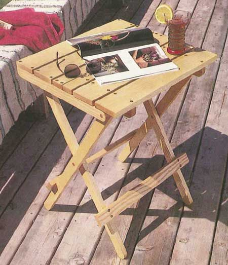 Woodworkers journal folding deck table plan rockler woodworking folding deck table downloadable plan greentooth Image collections