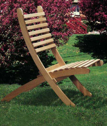 Portable Outdoor Chairs Downloadable Plan - Woodworker's Journal Portable Outdoor Chairs Plan Rockler