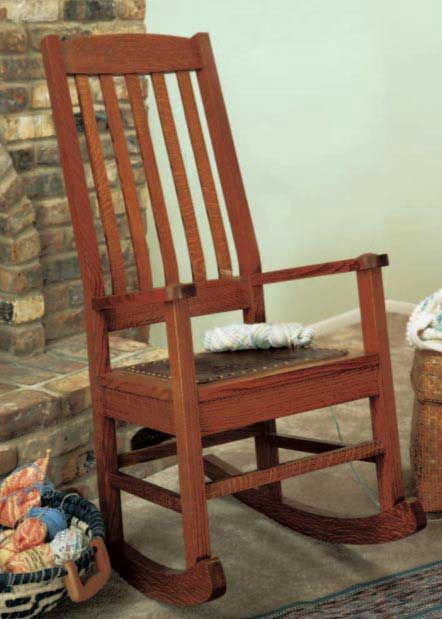 Craftsman Style Rocking Chair & Woodworkeru0027s Journal Craftsman Style Rocking Chair Plan | Rockler ...
