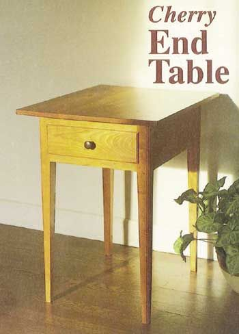 Woodworkeru0027s Journal Cherry End Table Plan | Rockler Woodworking And  Hardware