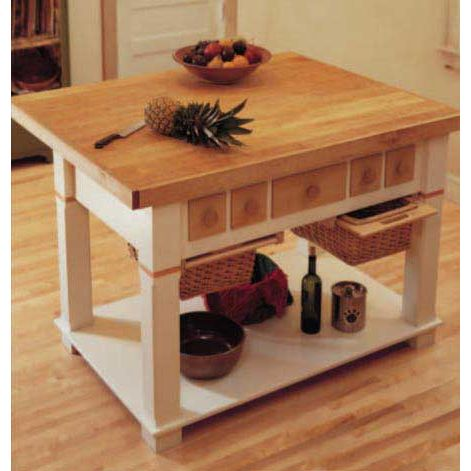 Kitchen Island For Beginning Woodworker