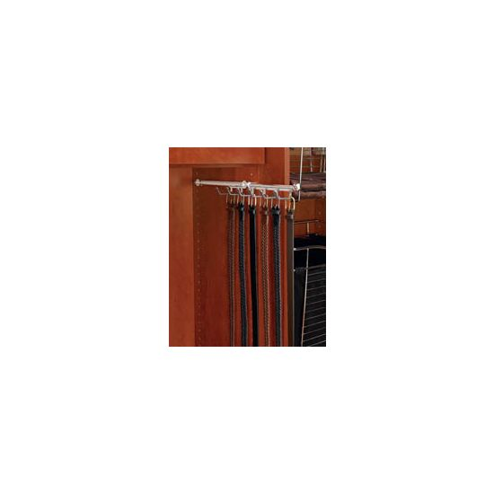 Designer 13 3/4'' Belt/Scarf Organizer, Satin, Metal (CBSR-14-SN)