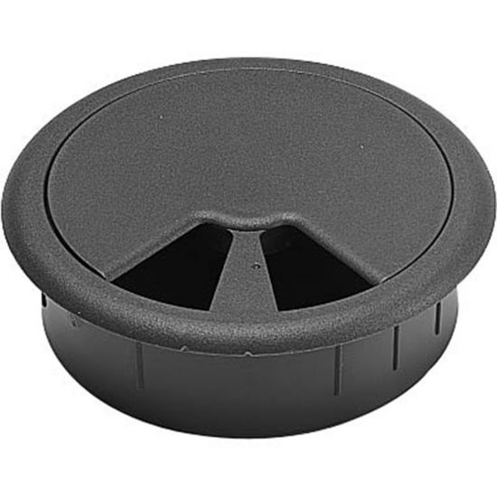 "2-3/4"" Black Multi-Slot Grommet"