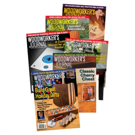 Woodworker's Journal 1 year GIFT Subscription (International including Canada)