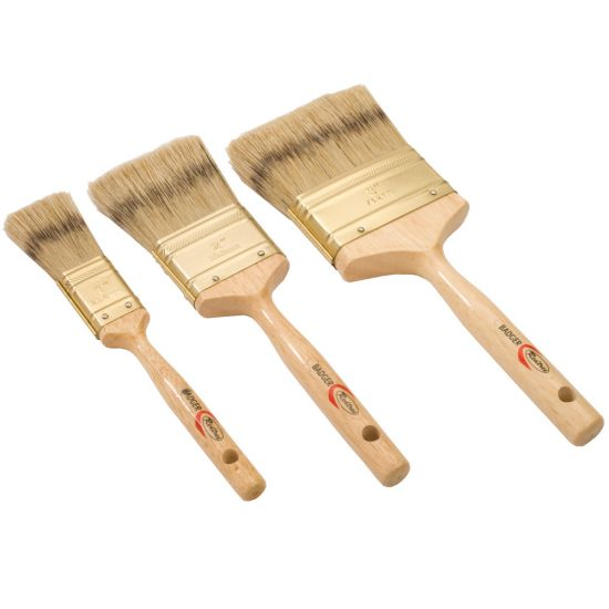 Natural Badger-Style China Bristle Brushes