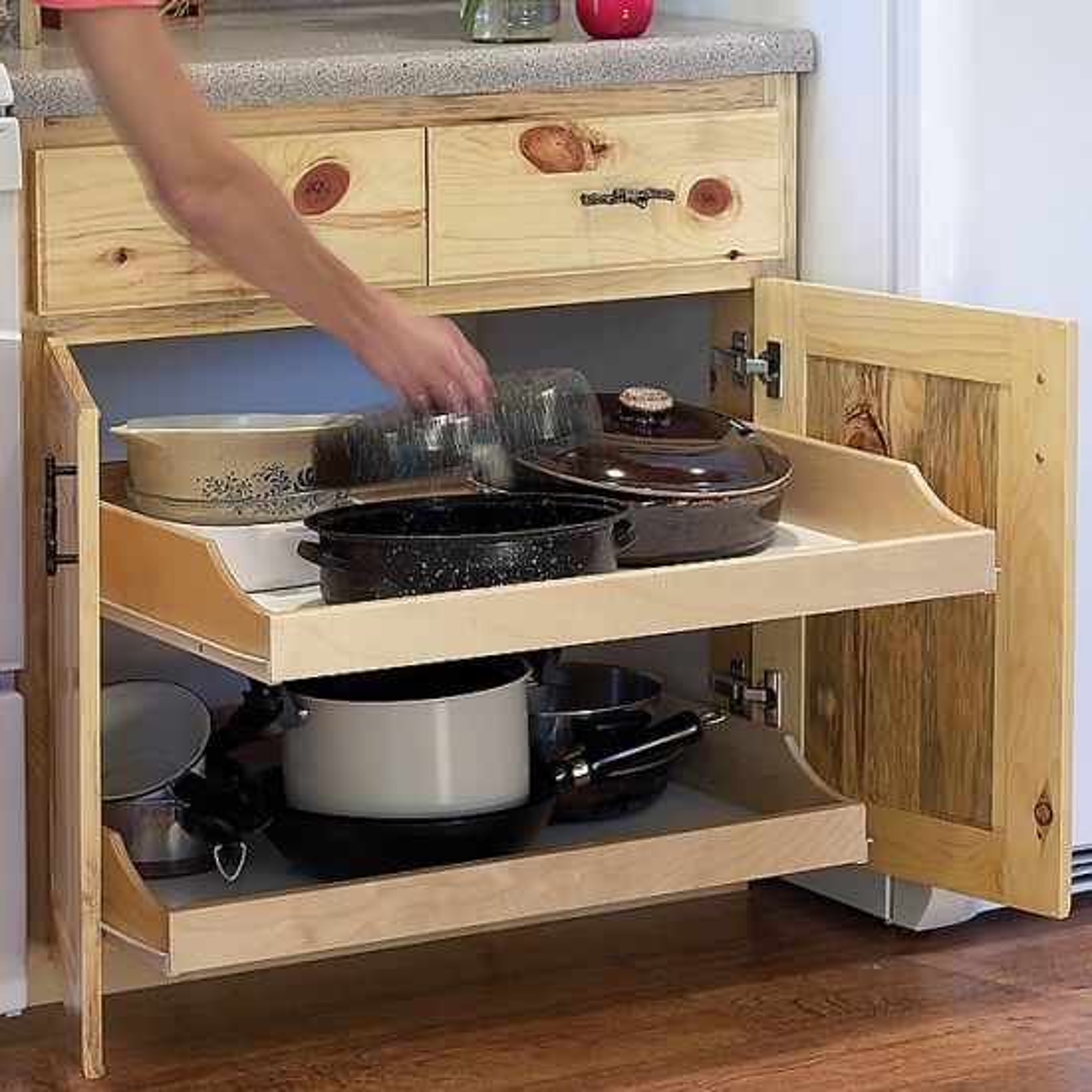 Birch Pullout Shelf Kit for Kitchen or Bath
