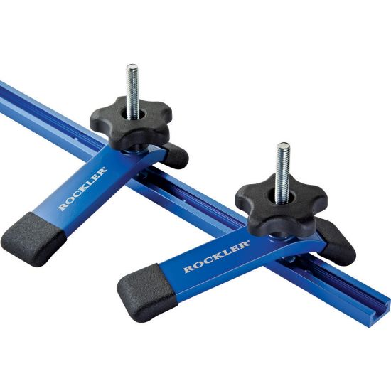 Rockler 48'' Universal T-Track with Hold-Down Clamps