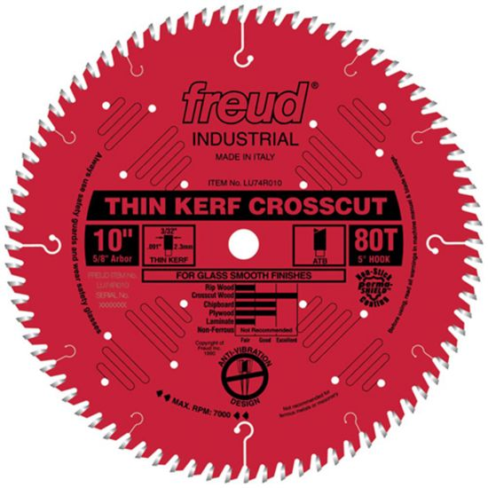 Freud® LU74R Industrial Thin Kerf Ultimate Cut-Off Saw Blades