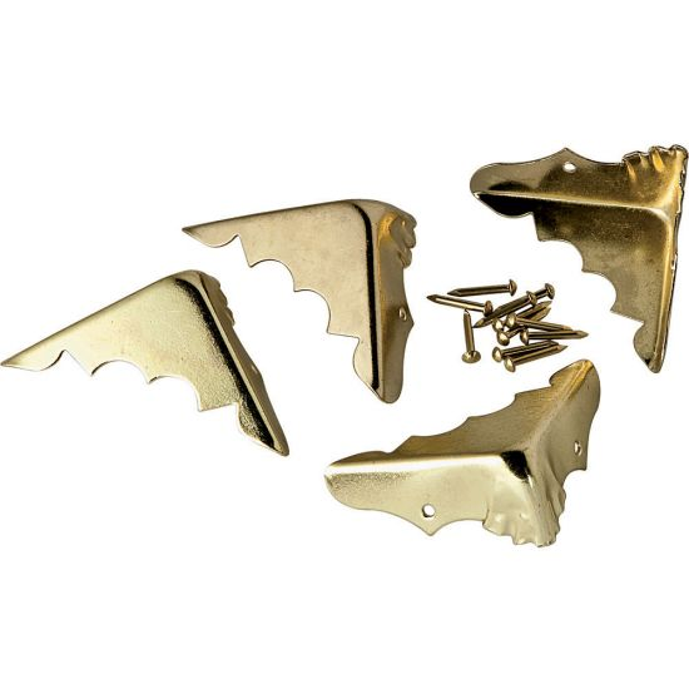 Brass Plated Trunk Corners