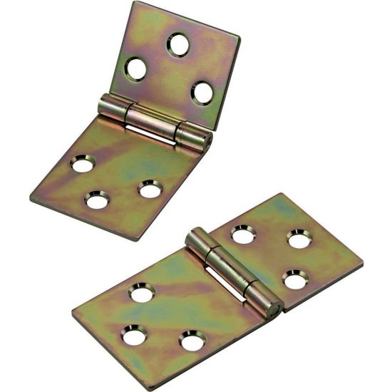 Yellow Zinc-Plated Drop Leaf Hinges for Straight Edges