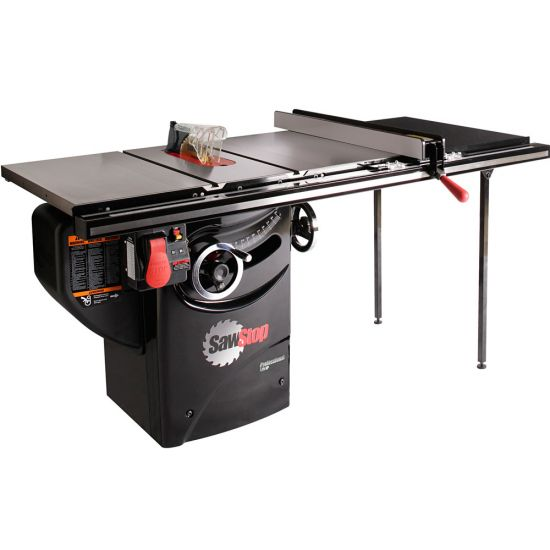 SawStop 1.75 HP Professional Table Saw w/36'' Fence, Rails, and Extension Table
