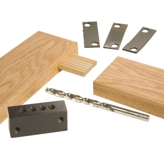 """Rockler 1/4"""" Accessory Kit (Guide Block, Drill Bit and Shim Set)"""