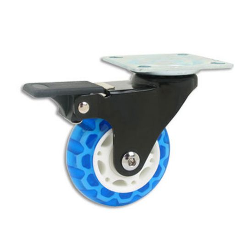 Translucent Skate Wheel Casters, Locking