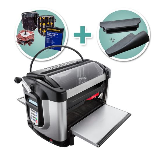 CarveWright CX - 3D CNC System with Dust Hood and Sign Maker Accessory Box