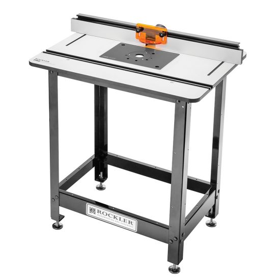 Rockler Pro Phenolic Router Table, Pro Fence, Stand and Plate
