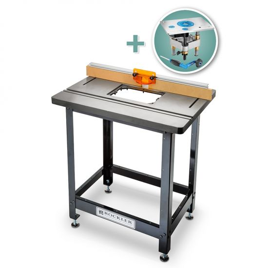 Bench Dog® Cast Iron Router Table, Pro Fence, Steel Stand & Pro Lift Router Lift