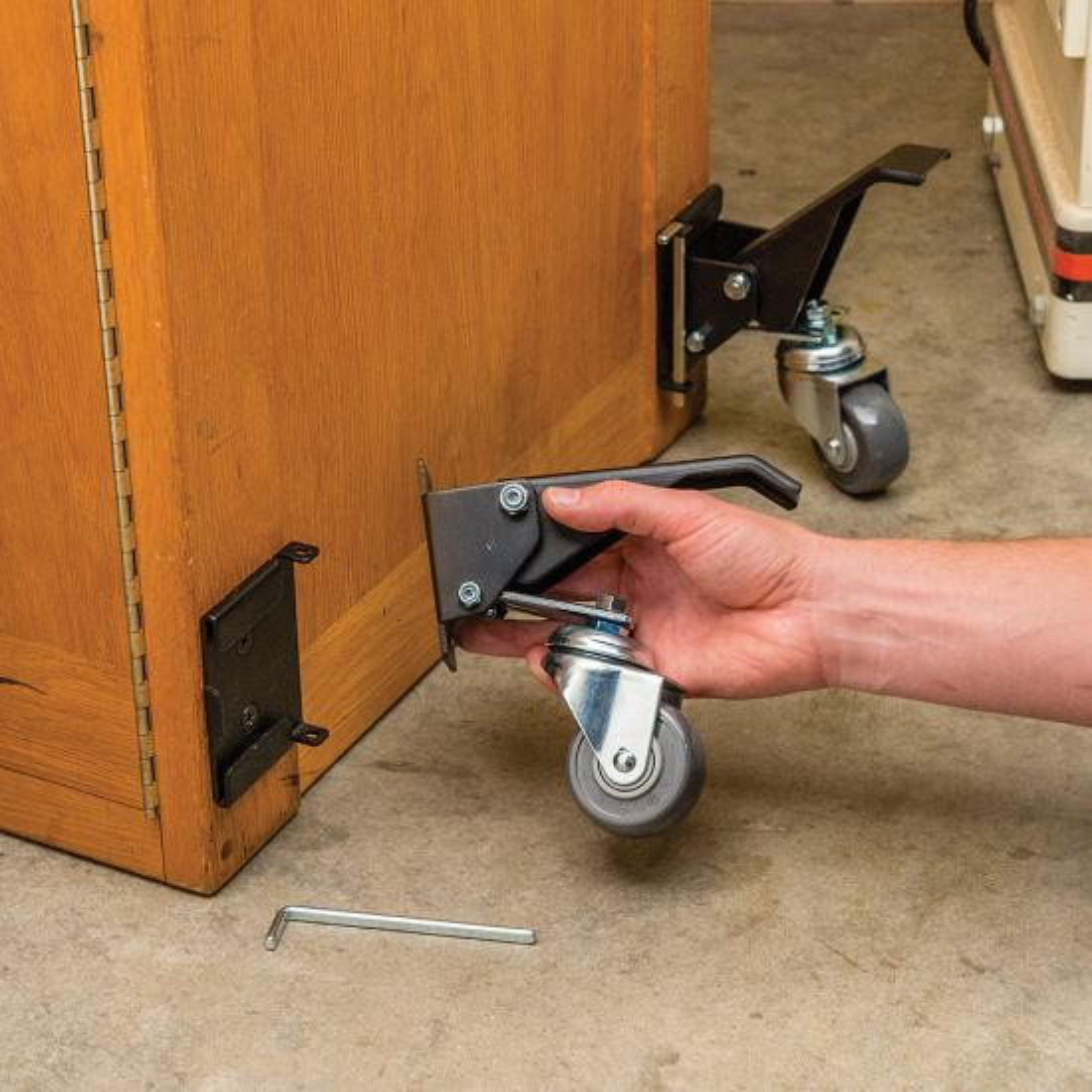 Rockler Quick-Release Workbench Caster Plates, 4-Pack