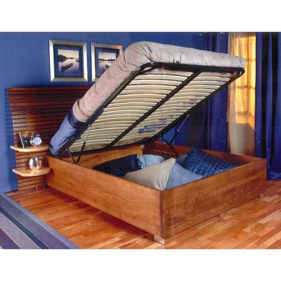 Queen Bed Lift with Platform, End Opening