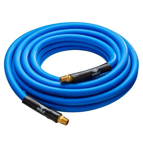 Hybri-Flex 3/8'' x 25' Air Hose with 1/4'' MNPT Fittings