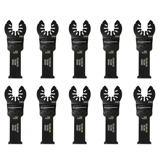 Universal-Fit Multi-Tool Blades, 1-1/4'' Multi-Purpose, Bi-Metal, 10-Pack