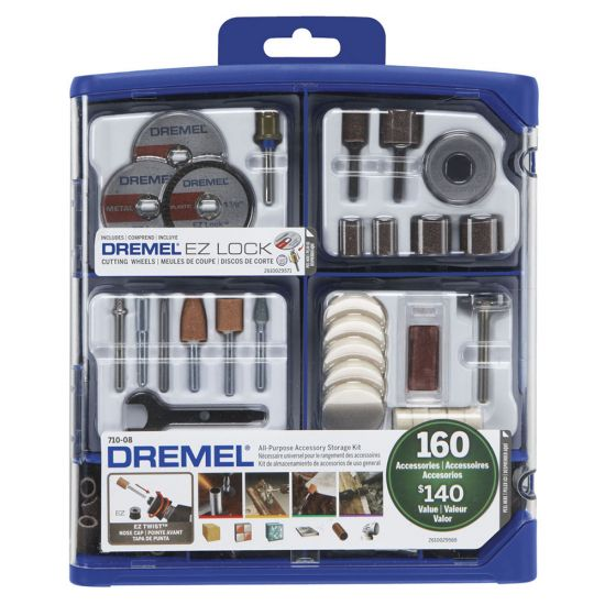 Dremel 710-08 160-Piece All-Purpose Accessory Kit for Rotary Tools
