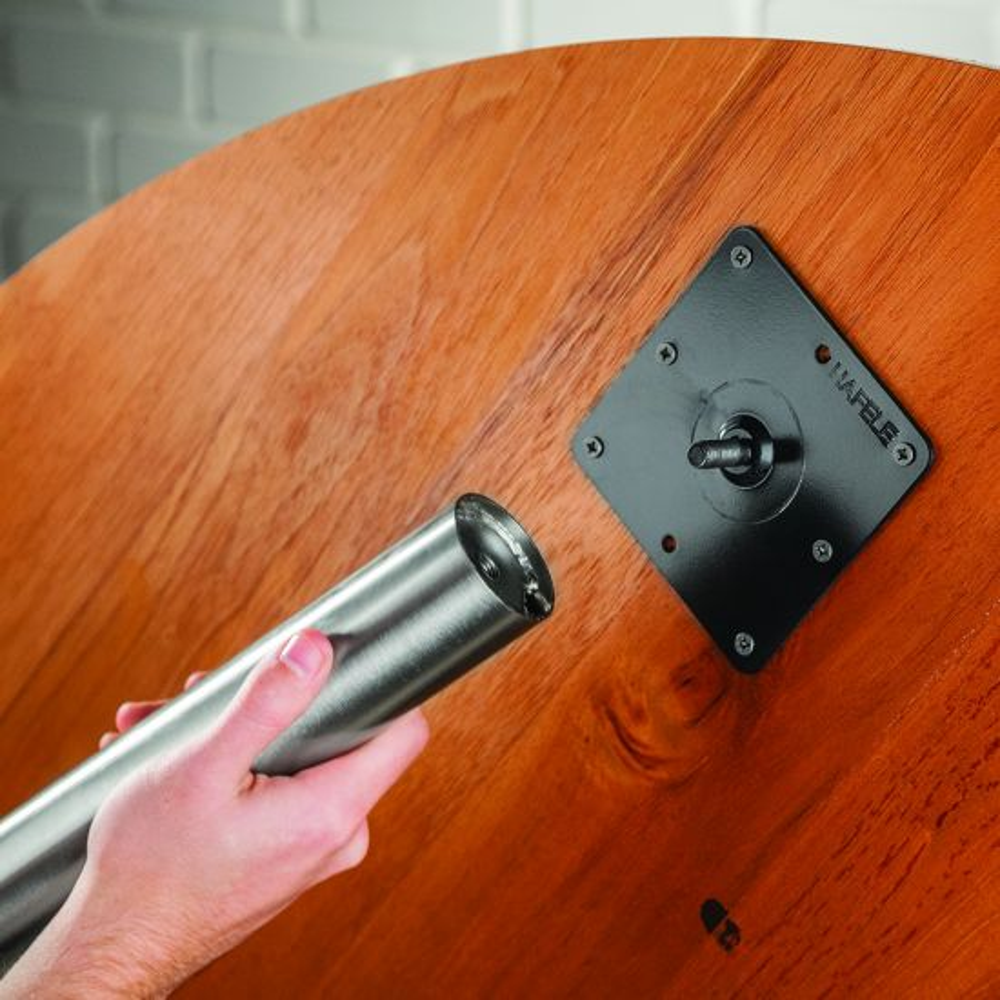 Nickel Adjustable Table Leg Set, Set of 4