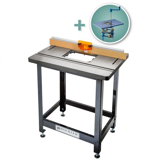 Bench Dog® Cast Iron Router Table, Pro Fence, Steel Stand & FX Router Lift
