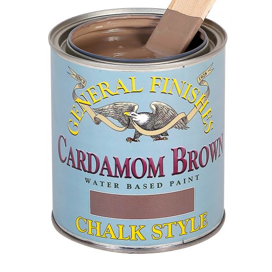 General Finishes Chalk Style Paint, Cardamom Brown
