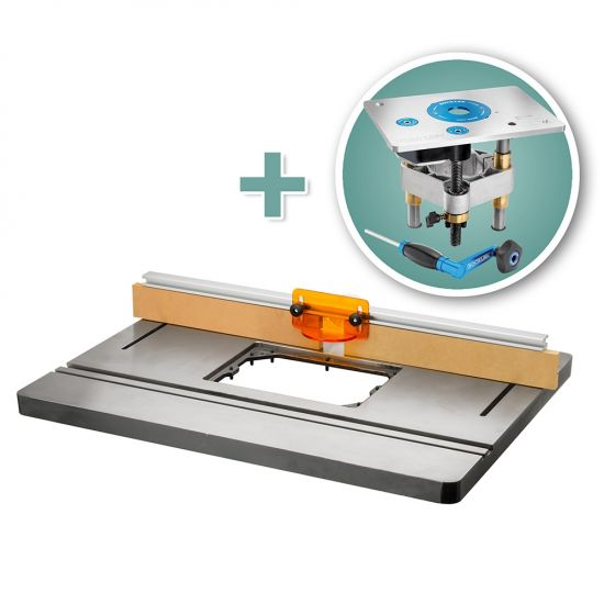 Bench Dog® Cast Iron Router Table, Pro Fence & Pro Lift Router Lift