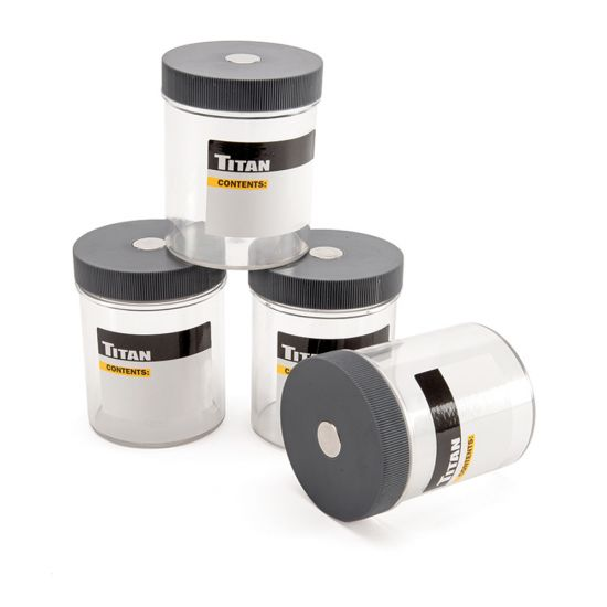 Titan 4-Piece Magnetic Container Set
