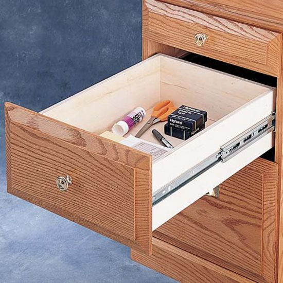 """100-lb. Zinc Full Extension Drawer Slides - Accuride 3832 (10"""" to 28"""")"""